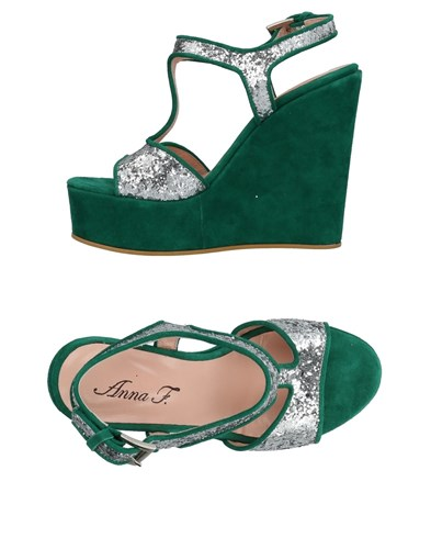 Anna F. Sandals Emerald Green HeaZ4Hjb