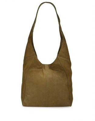 Lucky Brand Patti Leather Hobo Bags Green AeXnBUzK1