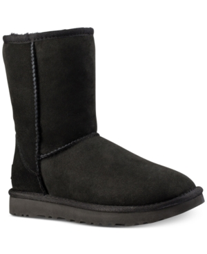 UGG Classic Ii Genuine Shearling Lined Short Boot Black jaoIaLD2nF