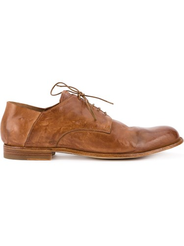 Leather Officine Shoes Calf Derby Leather Creative Brown BCZrCxRn
