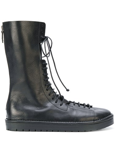 Marsèll Lace Up Boots Leather Rubber Black OiRuLRz1aY