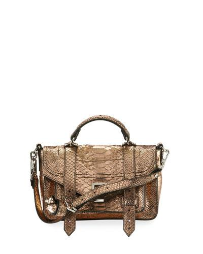 Proenza Schouler Ps1 Tiny Leather Satchel Bag Rose Gold k4W7eZ