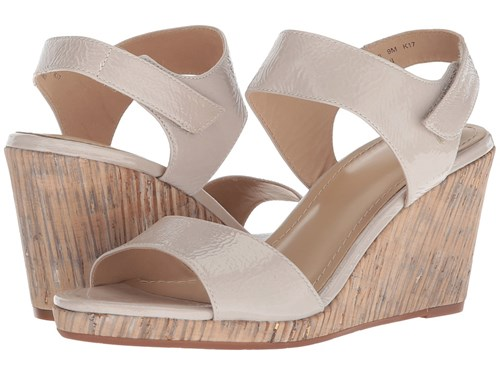 Johnston & Murphy Glenna Ice Crinkle Patent Leather Wedge Shoes Neutral KdASWvE
