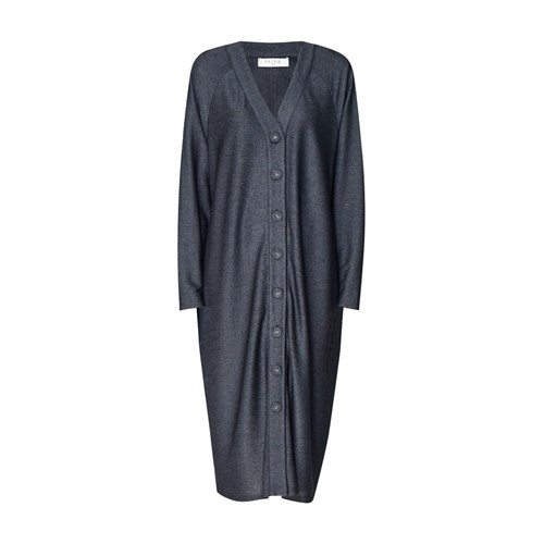Paisie Cardigan Dress With Faux Leather Buckle Belt In Black W8gG28cY