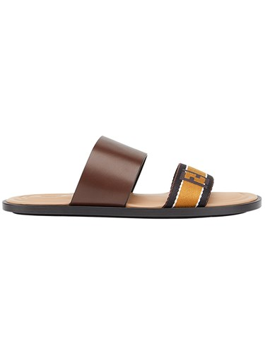 Fendi Logo Strap Sandals Brown 3hJ5acul0k