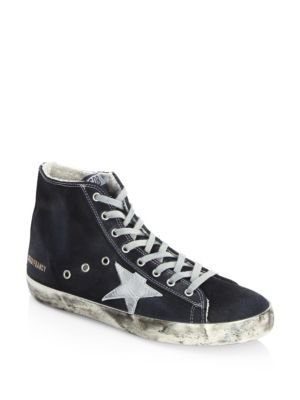 Golden Goose Mid Star Sneakers Navy Denim qy0IWu