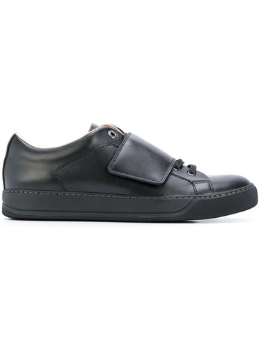 Lanvin Classic Lace Up Sneakers Men Calf Leather Leather Rubber 11 Black oo5Ul8Y