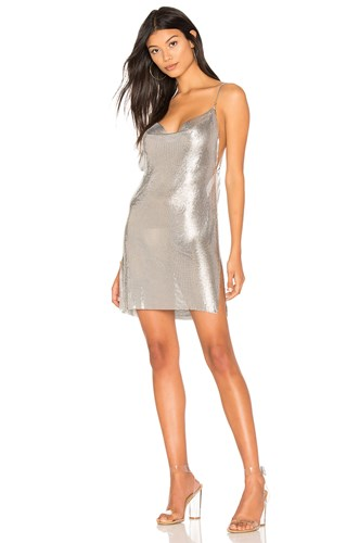 Metallic h Dress Chainmail Silver Wmail our wqqY7p6