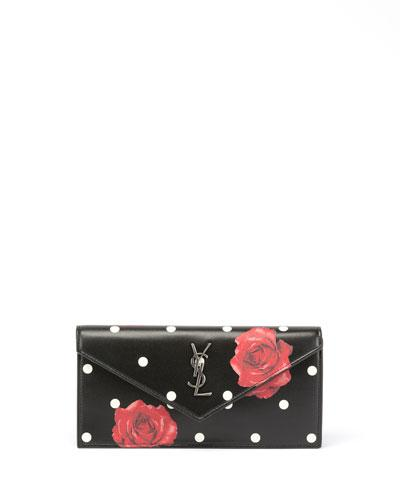 Saint Laurent Le Sept Small V Flap Clutch Bag Black Pattern xwQ6mSQ
