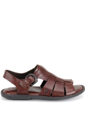 Born Shoe Chamberlain Leather Open Toe Sandals Brown IyZJSfBI