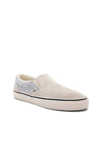 Gray Suede Fuzzy Light Slip Classic On Vans SWYHCqBUwY