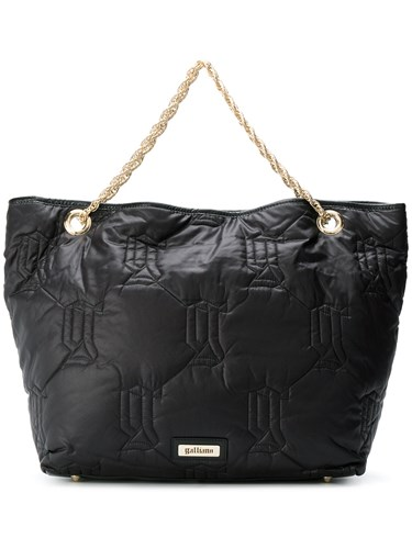 John Galliano Monogram Tote Black OX4Ly
