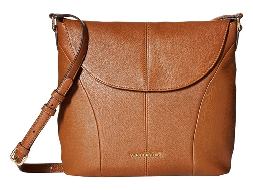 Vera Bradley Meredith Crossbody Cognac Cross Body Handbags Tan gVLD3