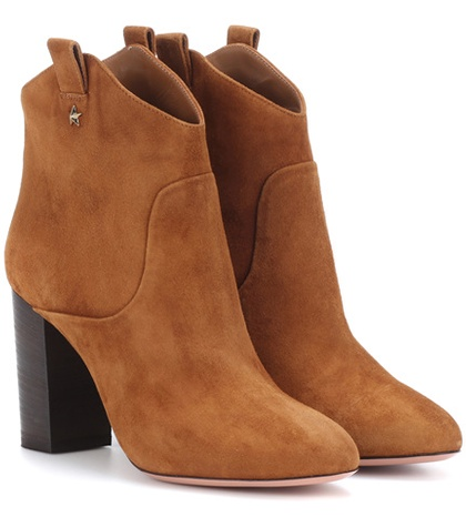 Aquazzura Rocky Suede Ankle Boots Brown NLieGh