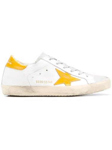 Golden Goose Deluxe Brand Superstar Sneakers Cotton Leather Rubber White t9iZabL