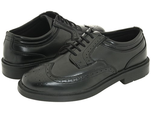 Deer Stags Tribune Black Men's Lace Up Wing Tip Shoes FffcP3h16u