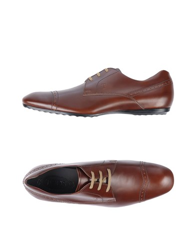 Tod's Lace Up Shoes Cocoa Txu5Gt6l3