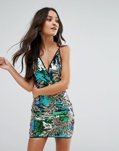 Love & Other Things Printed Bodycon Dress Blue i2RsRRKyoL