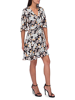 B Collection By Bobeau Florice Floral Fit And Flare Dress Stencil QzzAJxad