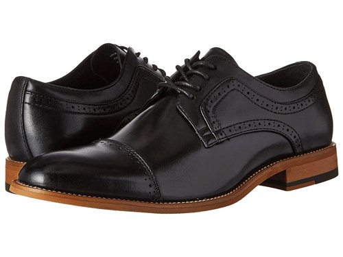 Stacy Adams Dickinson Cap Toe Oxford Black Lace Up Cap Toe Shoes 7tws4BN