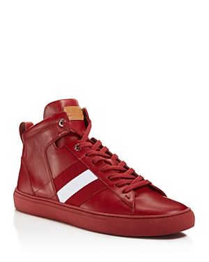 Garnet Sneakers Red Bally Men's High Hedern Top wSv7p0q