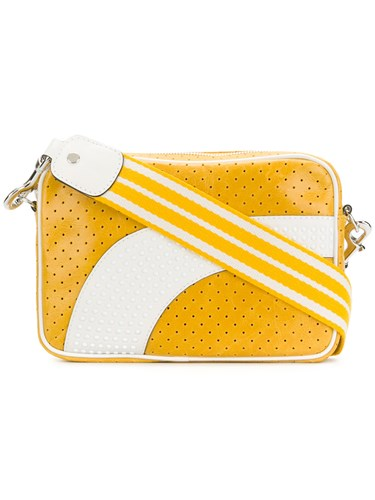 RED Valentino Perforated Shoulder Bag Yellow And Orange 8aOA23Ti7
