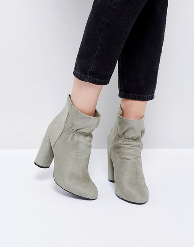 Public Desire Suzanna Heeled Ankle Boots Grey xEzCUXZr