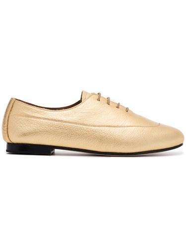 NewbarK Gold Charlie Leather Brogues Metallic vFJMk9Skd
