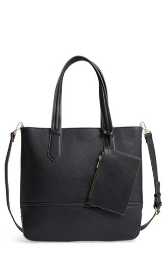 Faux Society Leather Sole Black Tote Pq5wx1S0