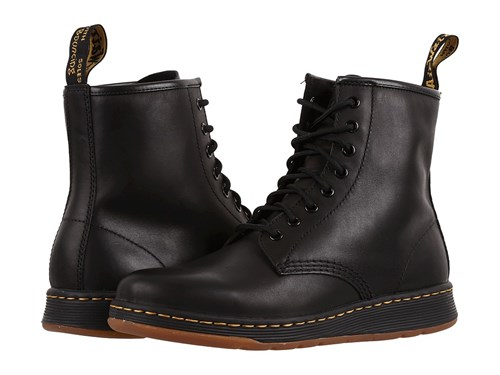 Dr. Martens Newton 8 Eye Boot Black Temperley Lace Up Boots 1NkDvoxAX