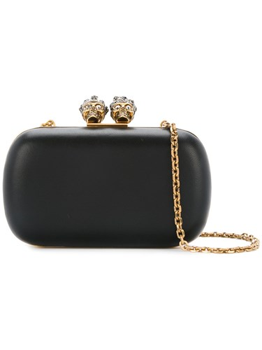 Women Leather And Clutch Box Black One King McQueen Calf Alexander Size Queen 8fq6qY