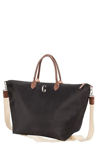 Cathy's Concepts Monogram Oversized Tote Black Black G lm3x0IE