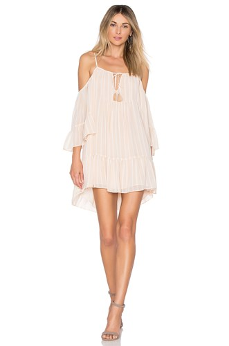 Tularosa Hattie Dress Cream hIdLeL