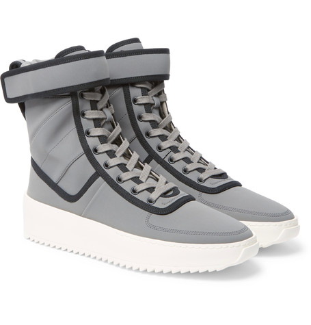 Fear Of God Military Nylon High Top Sneakers Gray CsoVg2PQ