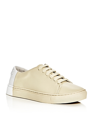 They New York Two Tone Lace Up Sneakers Beige White UDPMqWTTc