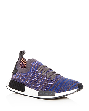 adidas Men's Nmd R1 Knit Lace Up Sneakers Blue wufph2dQ