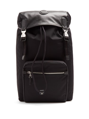 Dunhill Guardsman Canvas And Leather Backpack Black OBLeUz7iuq