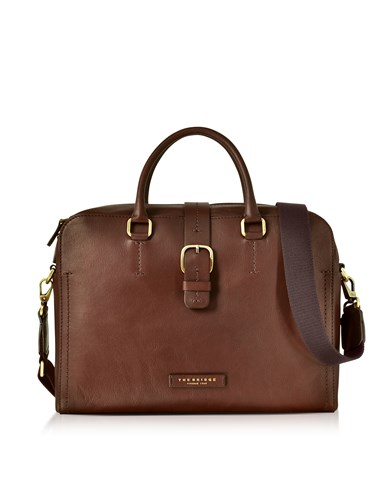 The Bridge Briefcases Dark Brown Leather Double Handle Briefcase W Detachable Shoulder Strap wfAELv6