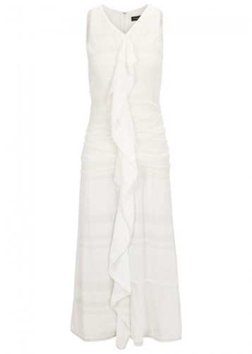 Proenza Schouler White Ruffled Chiffon Dress ypyu8Lf6p