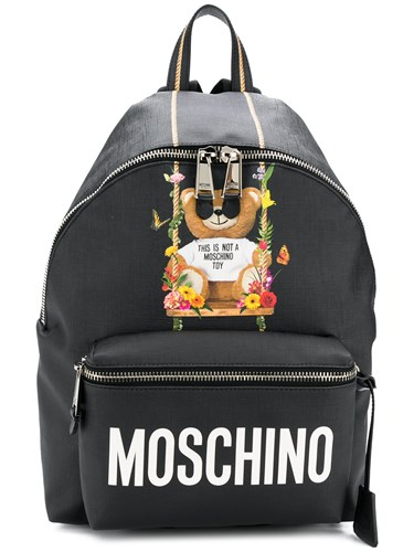 Moschino Big Teddy Backpack Black B7QoR