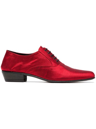 Haider Ackermann Red Silk Brogues E5QiskZtCW