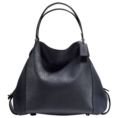 Coach Edie 42 Leather Shoulder Bag Midnight Navy JSwAZy