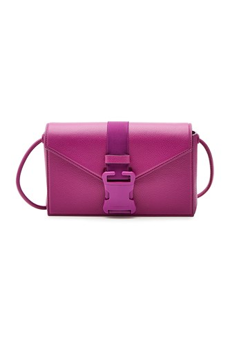 Christopher Kane Classic Sb Leather Shoulder Bag Purple 3Vf8UZAL