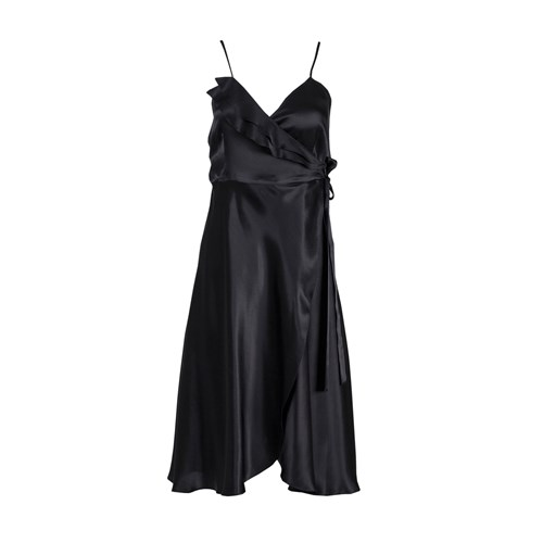Roses Are Red Aloise Silk Dress In Black BR8xXxyQ