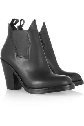 Acne Studios Star Leather Ankle Boots Black a8eRF9Q