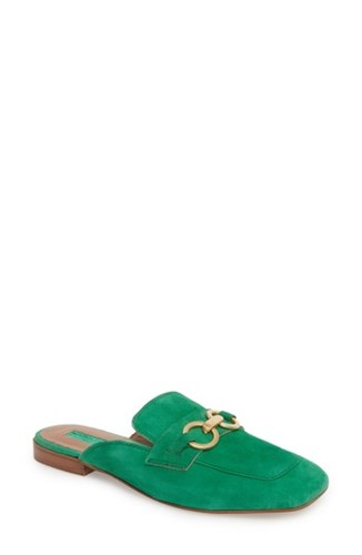Topshop Kale Trim Loafer Mule Green Multi OTf6z
