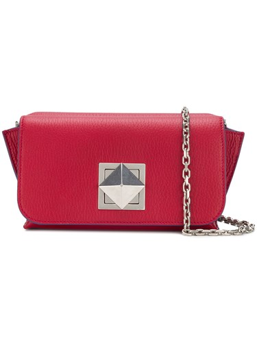Sonia Rykiel Double Compartment Shoulder Bag Red QbBo3m