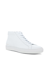 Common Projects Original Achilles Leather Mid Tops In White n0TrH8C8