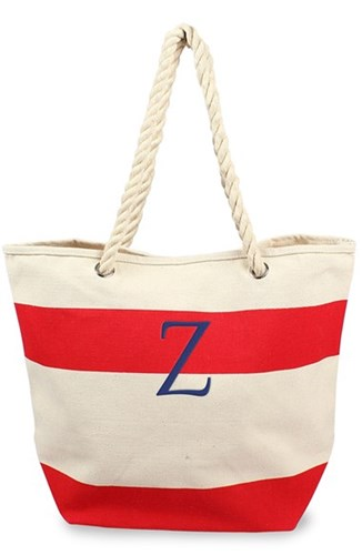 Cathy's Concepts Personalized Stripe Canvas Tote Red Red Z YbuRdZ