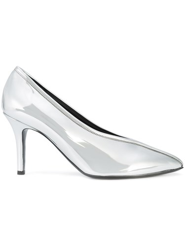 Paco Rabanne Pointed Toe Pumps Metallic OuIrc